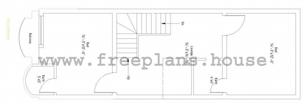 15x45 First Floor Plan