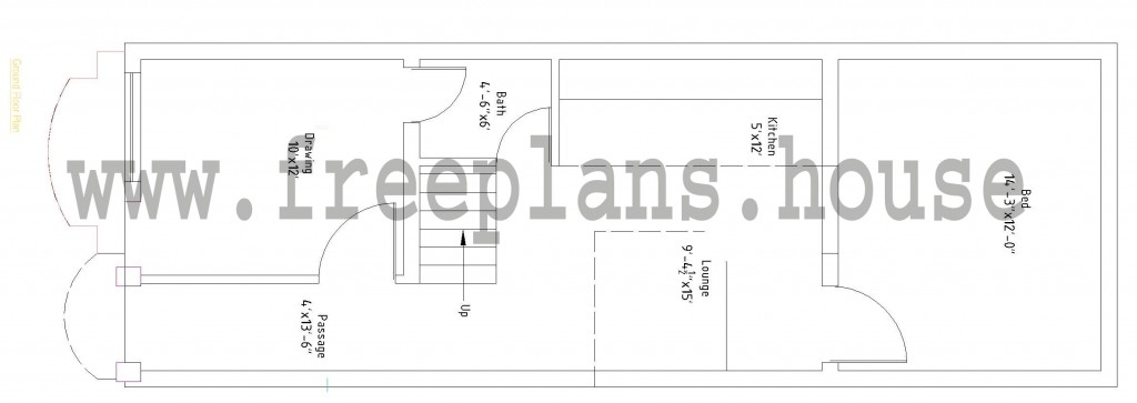 15x45 Ground Floor Plan