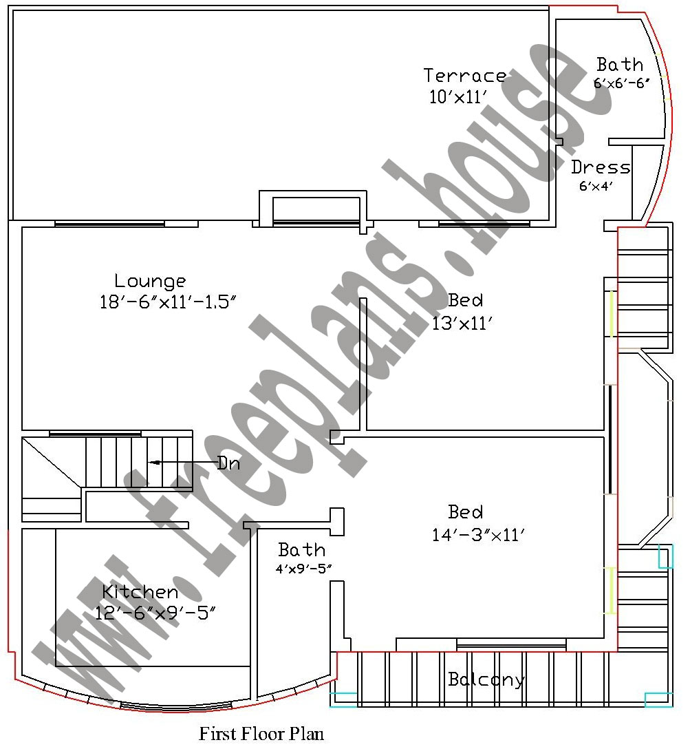 30 36 90 square meters house plan