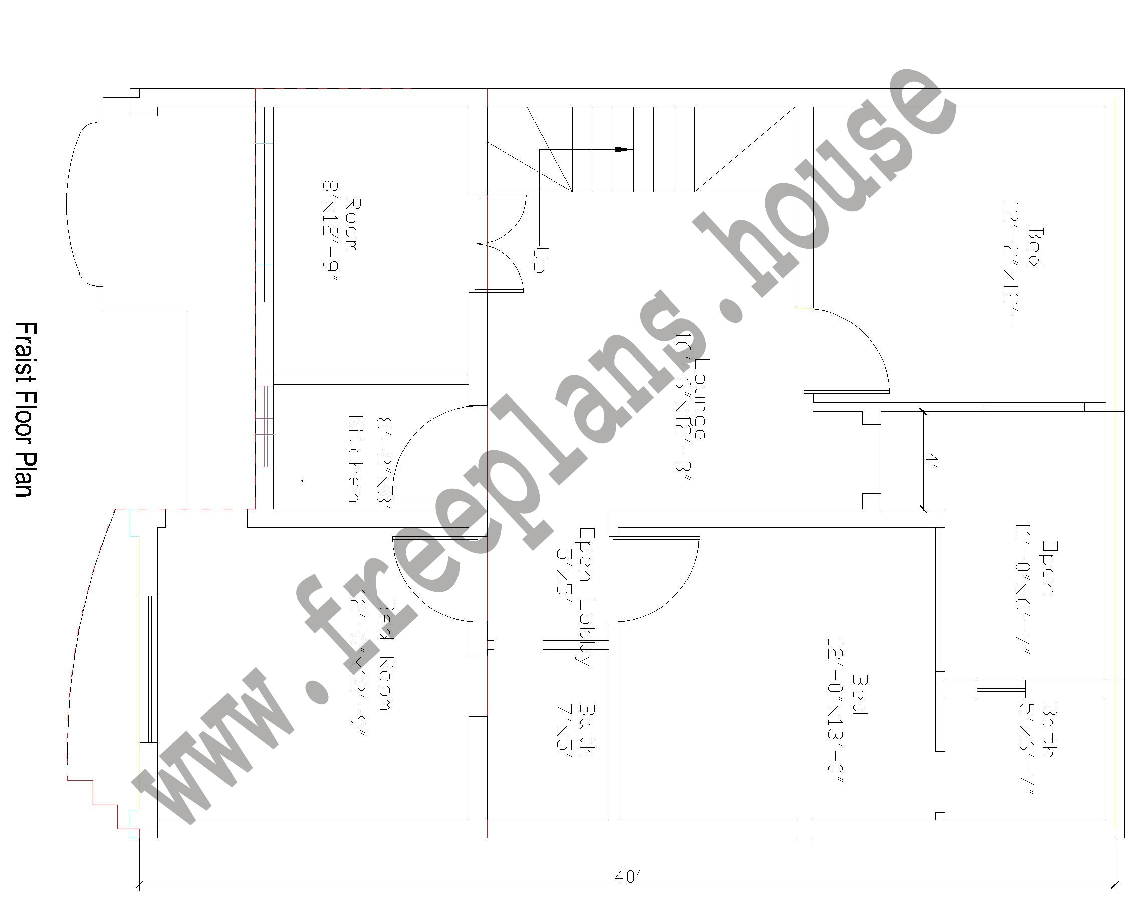 30 40 feet 108 square meters house plan for House plans for 30x40 site