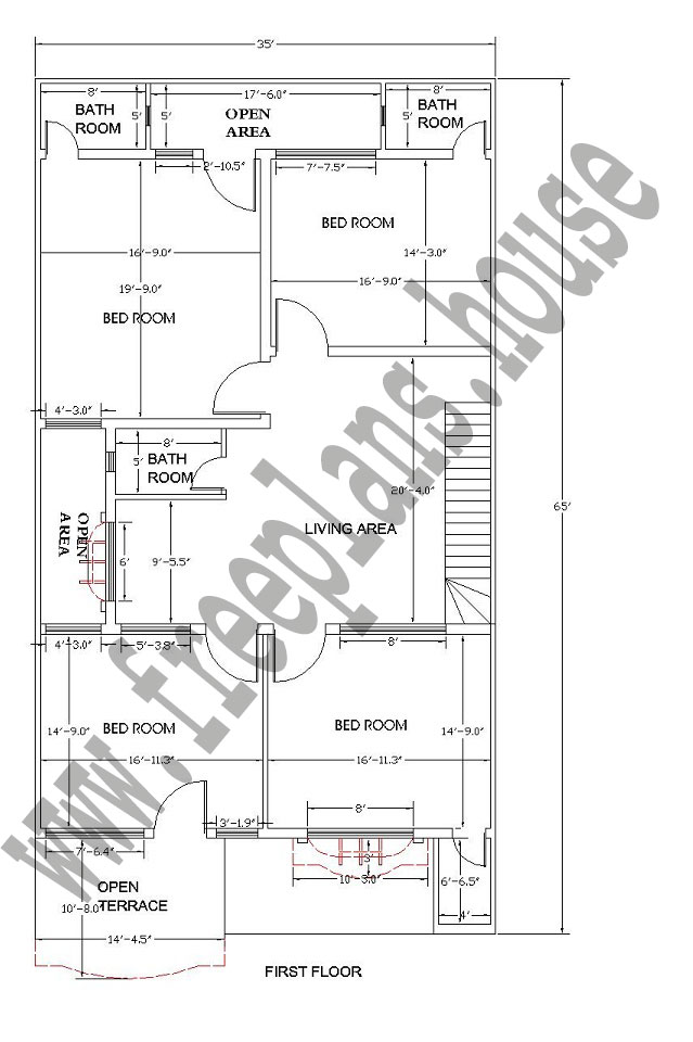 35 65 Feet 211 Square Meters House Plan