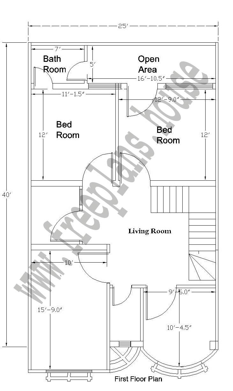 25 40 feet 92 square meter house plan. Black Bedroom Furniture Sets. Home Design Ideas