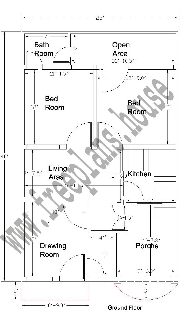 25 40 feet 92 square meter house plan 40 sq house plans
