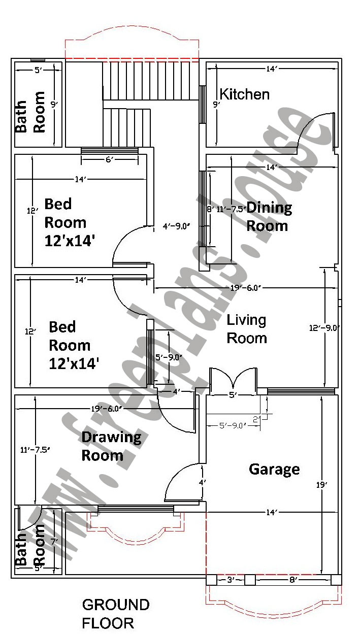35 55 feet 178 square meters house plan for Free house floor plans