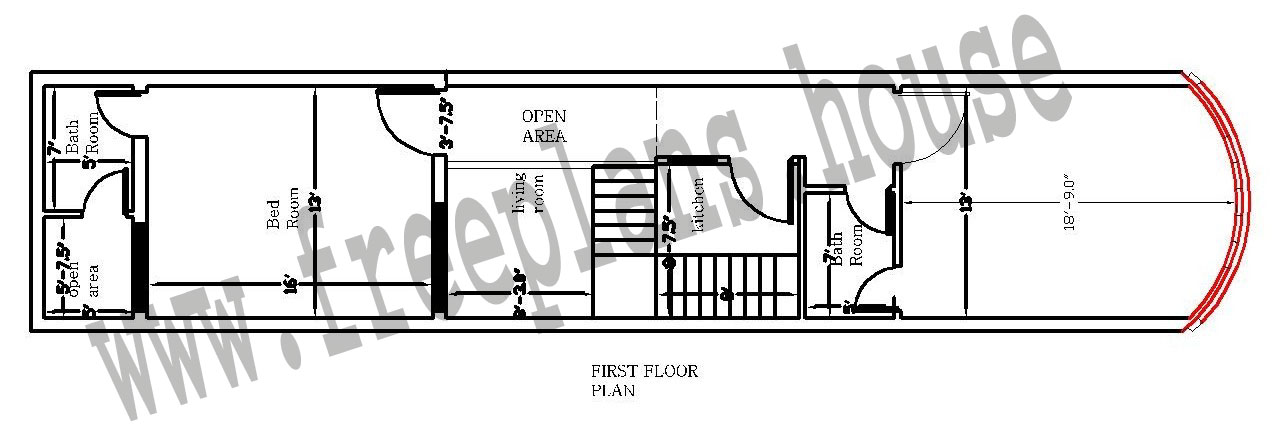 13 63 Feet 76 Square Meter House Plan