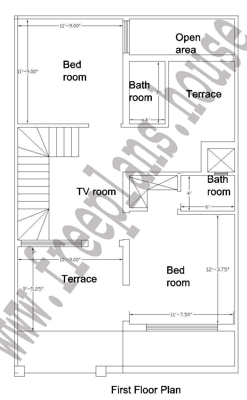 25x40 Feet First Floor Plan