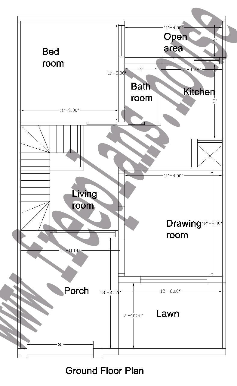 25x40 Feet Ground Floor Plan