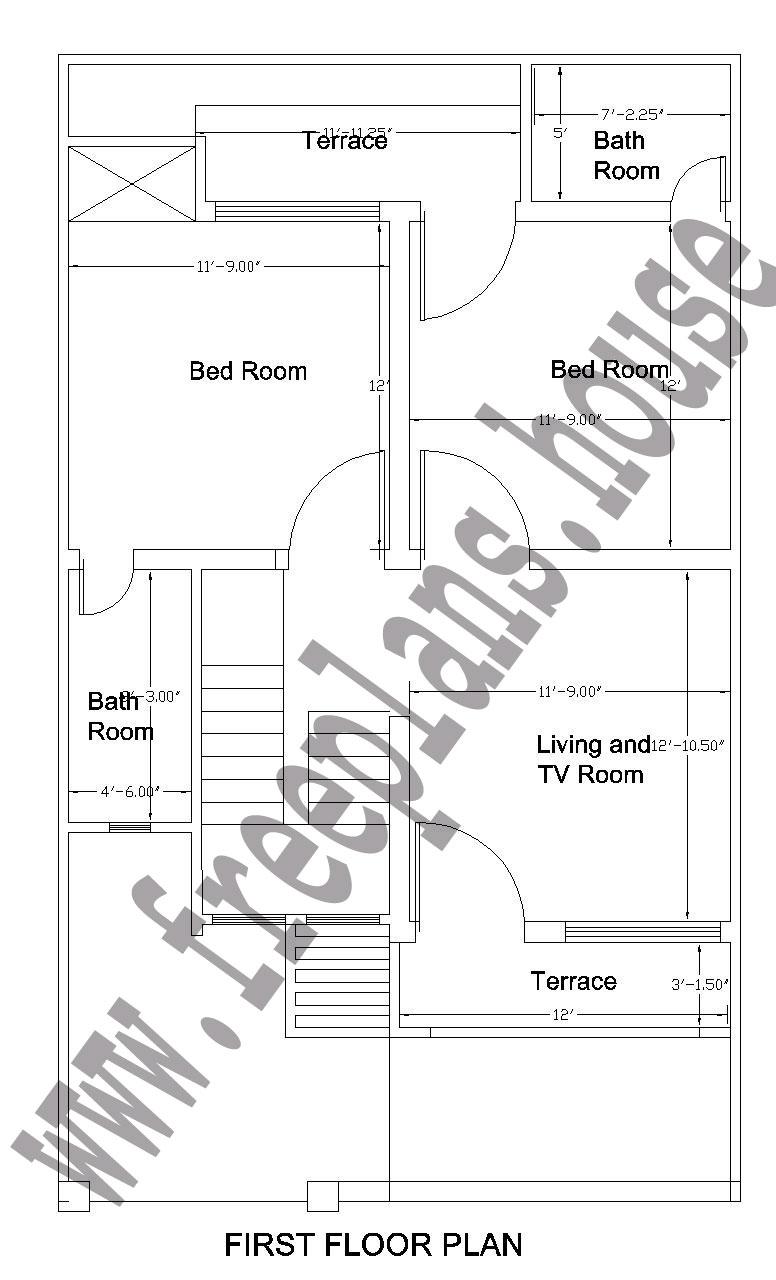 25x42 Feet First Floor Plan