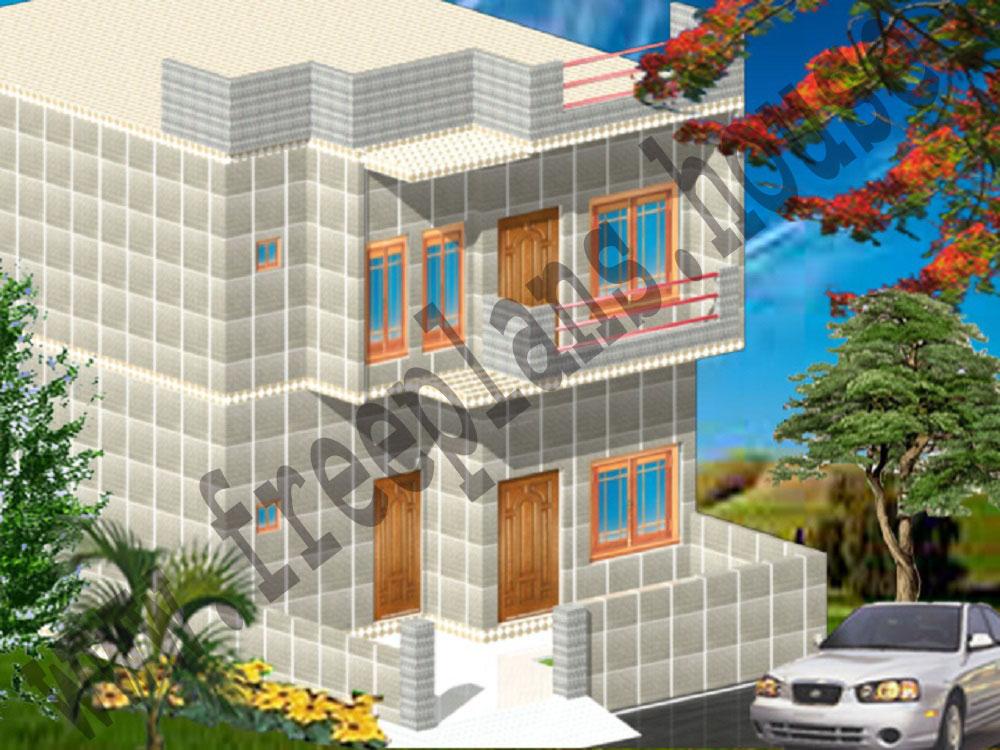 25x42 Feet House Model
