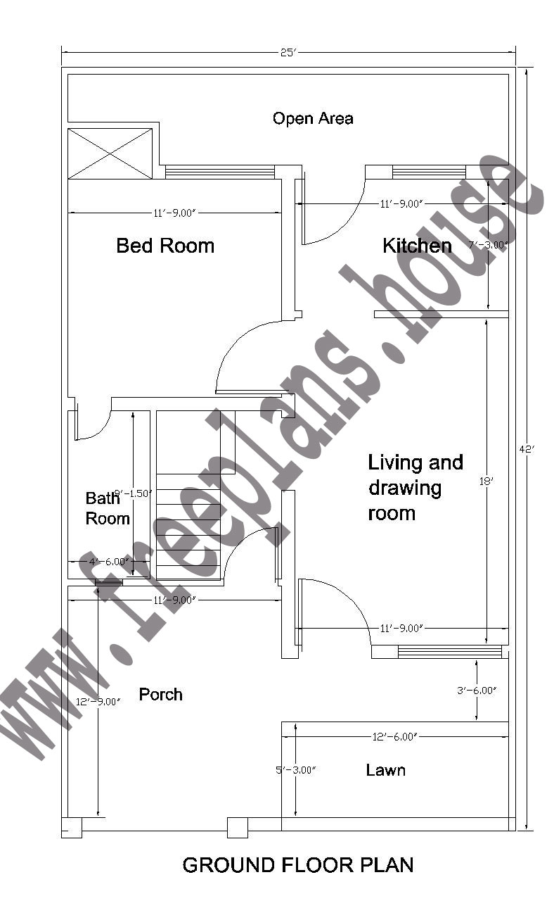 25 42 feet 97 square meter house plan