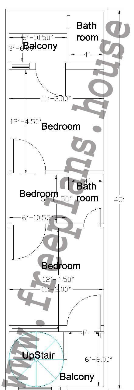 12 45 Feet 50 Square Meter House Plan