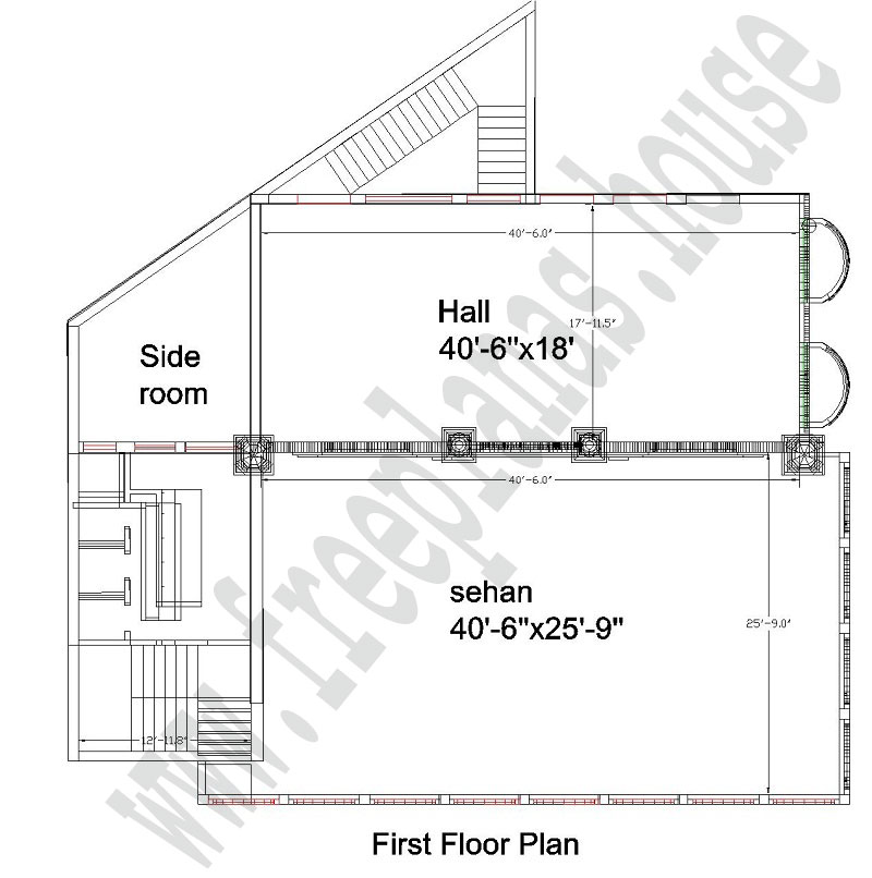 42 215 56 Feet 218 Square Meter Masjid Plan Free House Plans