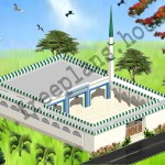 80X112 Feet/ 2739 Square Meter Masjid Plan,