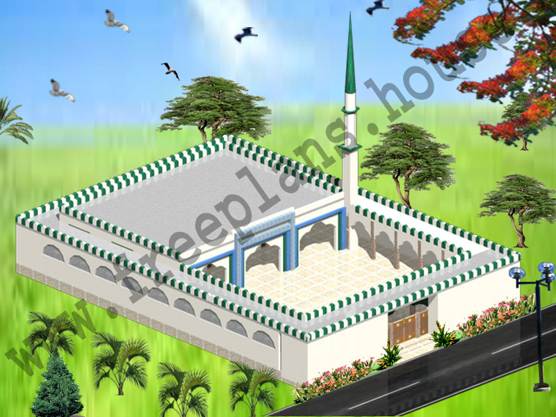 80x112 Feet Masjid Plan,