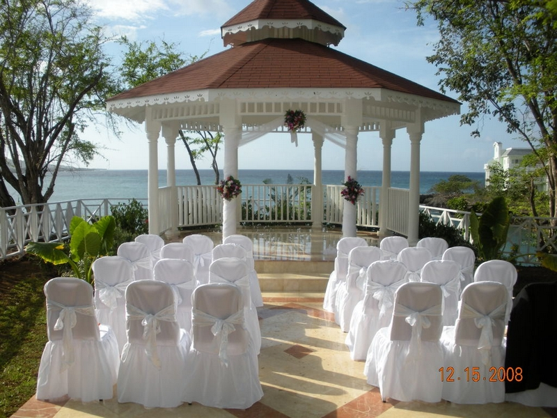 gazebo wedding decorations beach theme