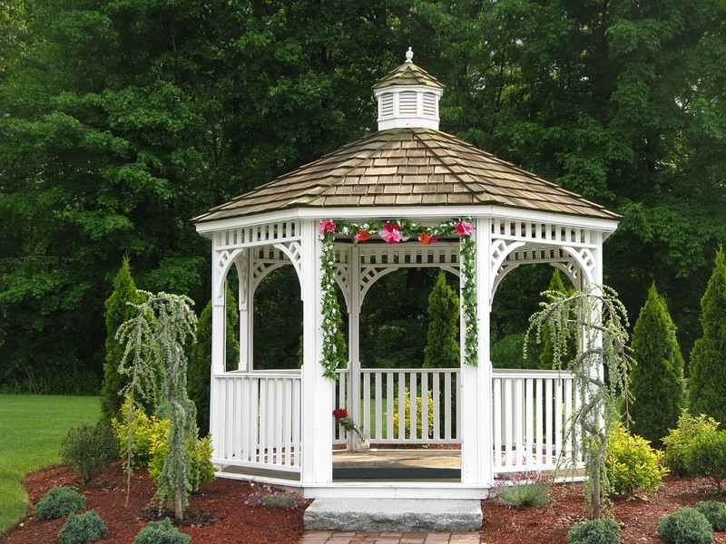 outdoor gazebo wedding decorations via