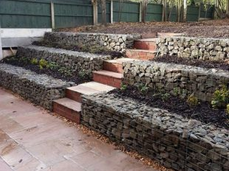 Stepped  Retaining Walls,