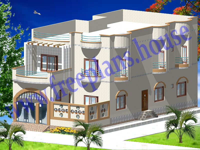 Front Elevation Designs Of Houses 30 60 Free : Feet sq meters house model