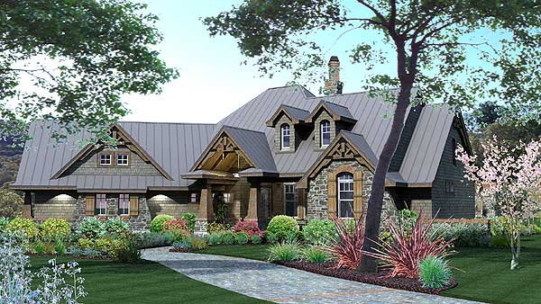 Striking Curb House Plan, Via