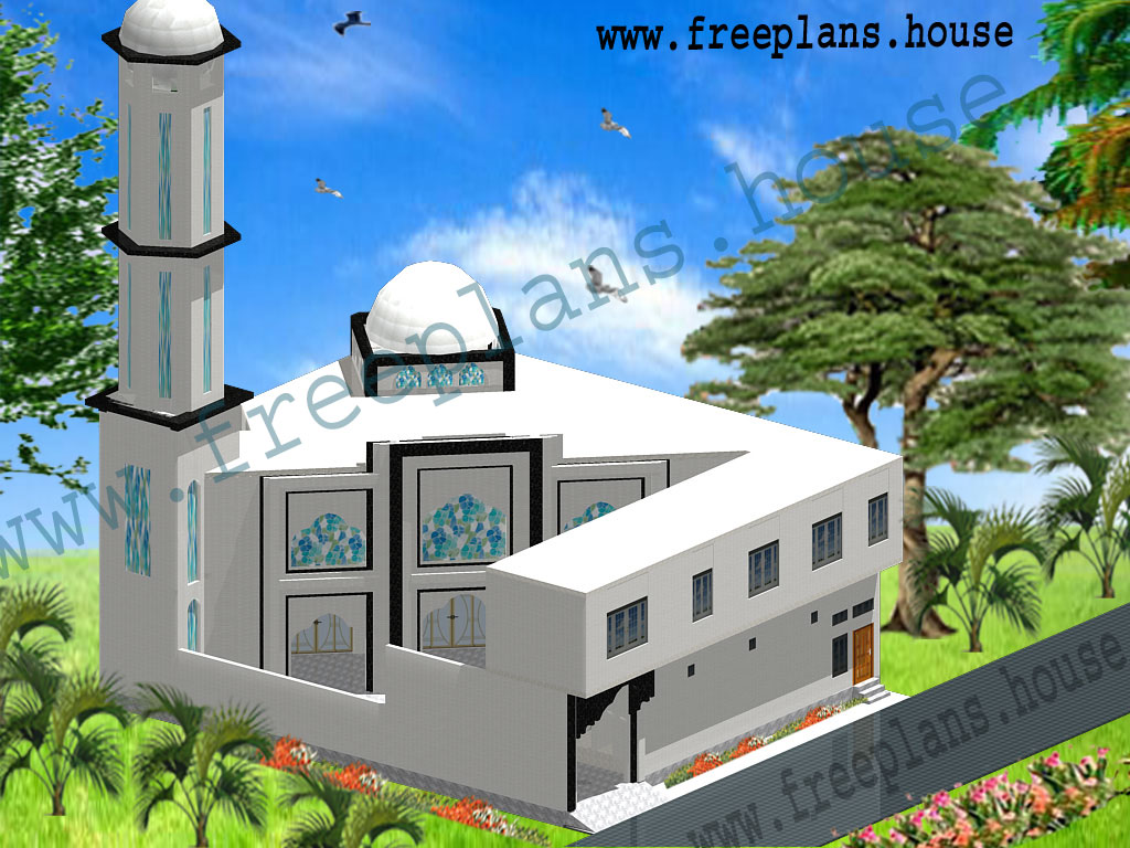 70 61 feet 4270 square feet 396 square meters masjid plan for Home design 84 square metres