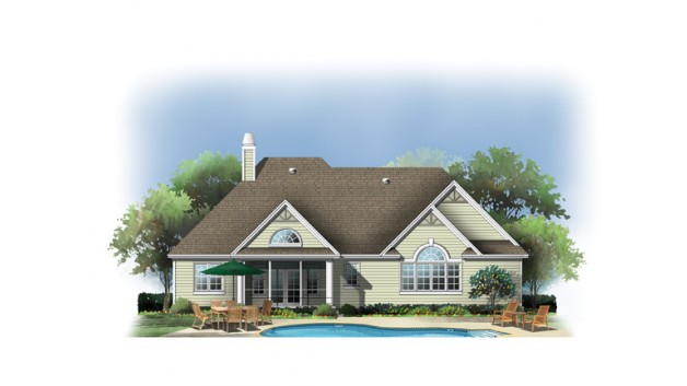 1668 SQ Feet-508 SQ Meters Modern House Plan Back side, Via