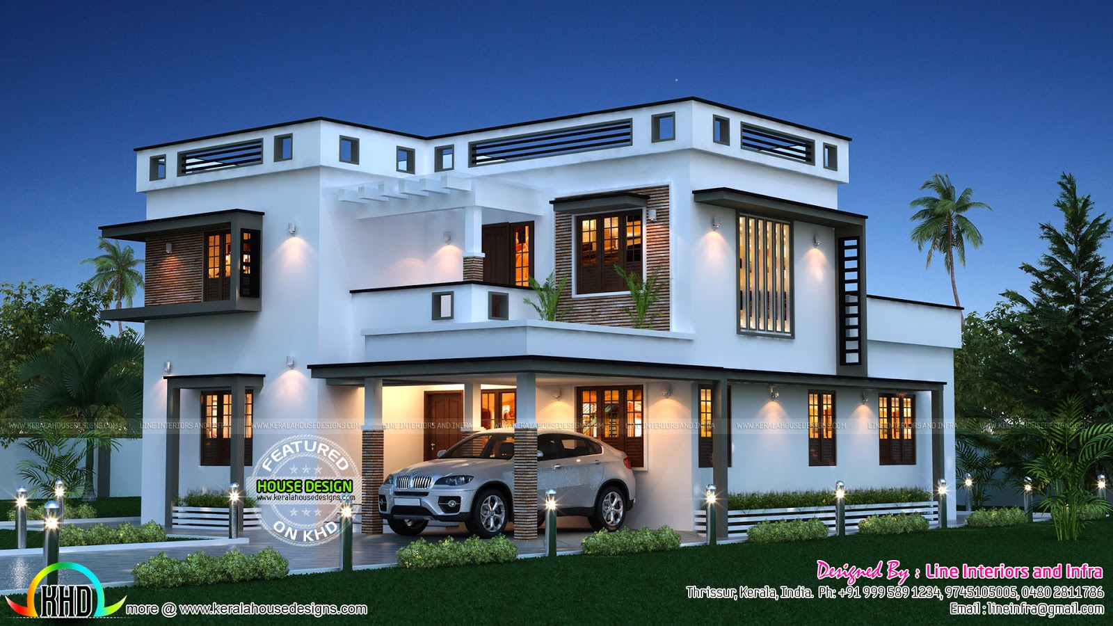 1600 sq feet 149 sq meters modern house plan for Modern square house plans