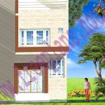 16×65 Feet/ 1040 Square Feet/ 96.62 Square Meters House Plan,