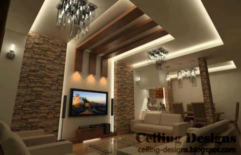 Living room ceiling design ideas - Living room ceiling interior designs ...