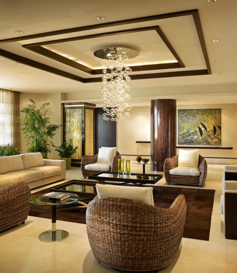 Living room ceiling design ideas for Online drawing room