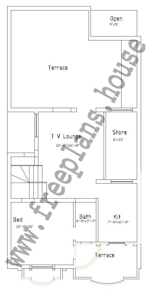 25×50 Feet / 116 Square Meters House Plan - Free House Plans