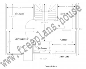 30×23 feet/ 64 square meter house plan - free house plans