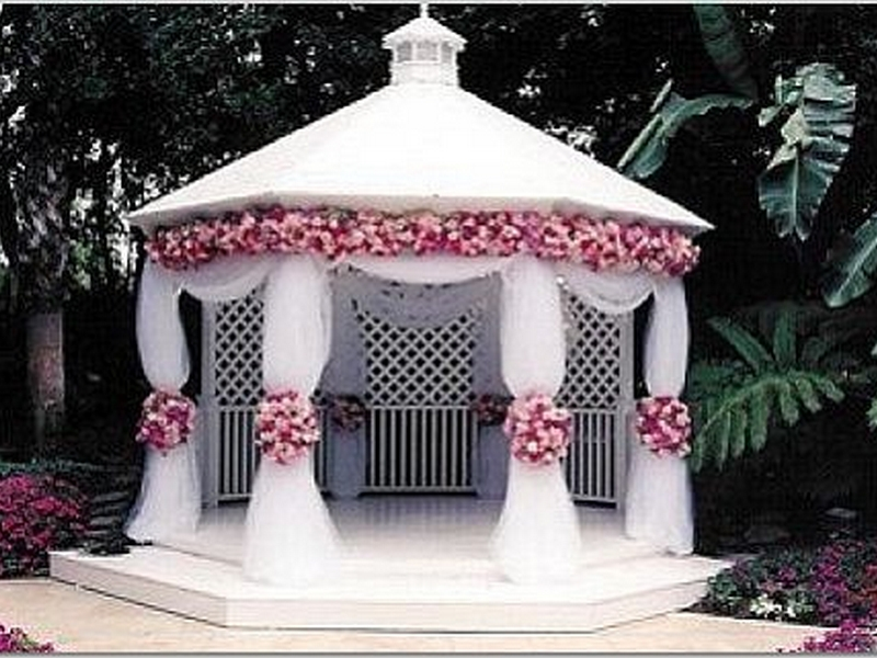 Outdoor Wedding Gazebo Decorating Ideas Best Living House Plans Design And