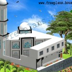 70×61 Feet/ 4270 Square Feet/ 396 Square Meters Masjid Plan